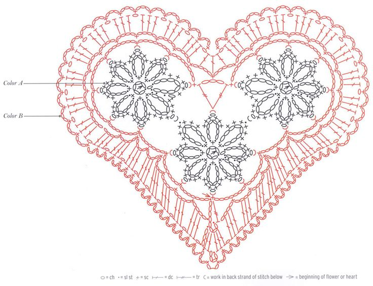 Hearts crochet patterns free