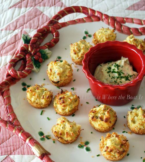 Recipe For Parmesan-Crusted Crab Cake Bites - This is a winner of recipe and one I'll use again!