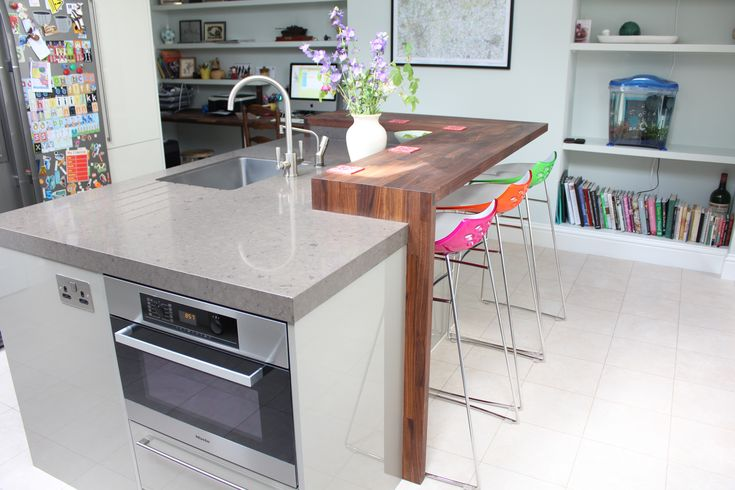 Island Incorporating Microwave Oven Dishwasher Sink And