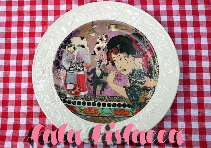 Piatto Dimmi cosa Mangi by Creazioni Fata Bislacca (alias Cathy Candolfi)
