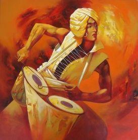 Shankar-Gojare The Beat #Acrylic #Canvas #Paintings #Eikowa #Arts #IndianArts #Online EK-15-0035-AC-0004-33x33