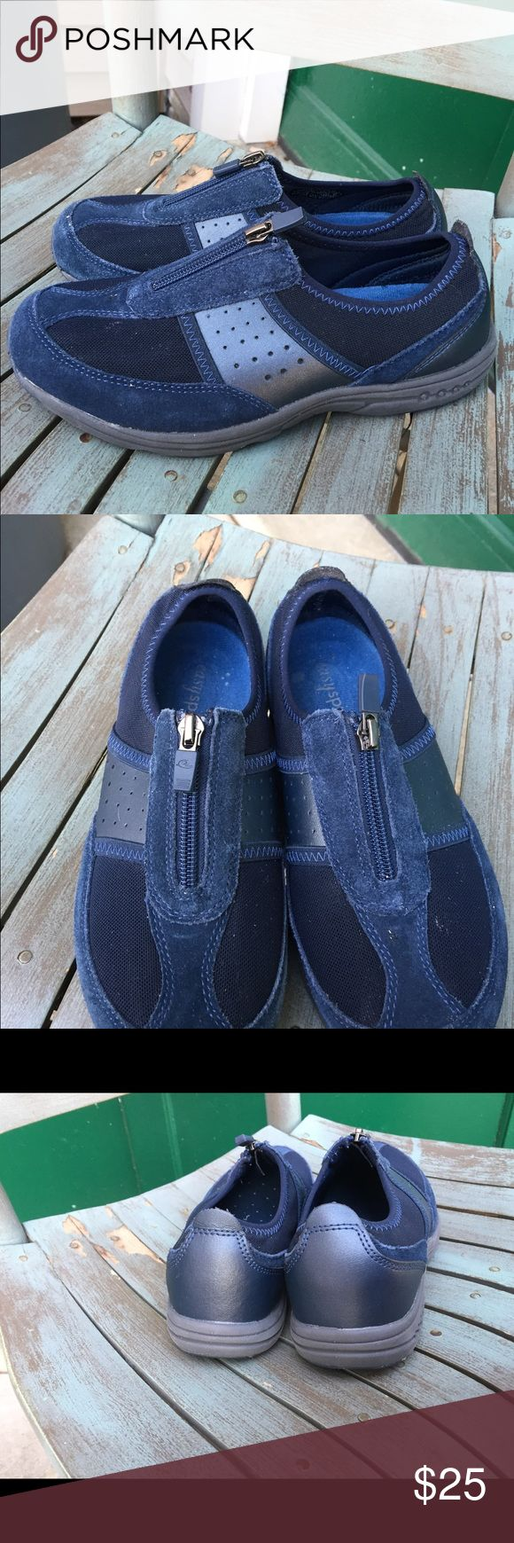 Women's Easy Spirit Navy Blue Leather Sneakers 7M Women's Easy Spirit Navy Blue Leather Sneakers 7M. Excellent Condition Easy Spirit Shoes Sneakers
