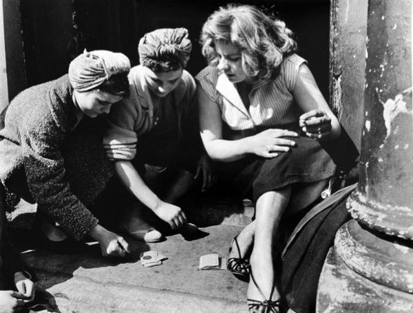 Girls Gambling, 1956, London, by Roger Mayne