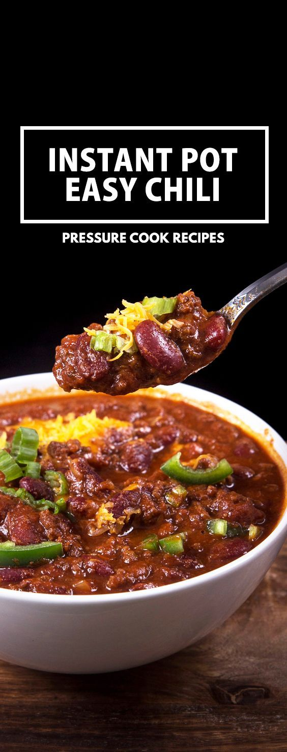 Make this Easy Instant Pot Chili Recipe under an hour! Simple umami Pressure Cooker Beef & Beans Chili - hearty comfort food.  via @pressurecookrec