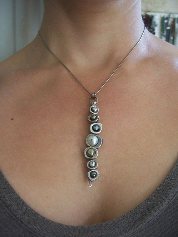 Vertebrae Pendant Earthy Modern by dnajewelrydesigns on Etsy