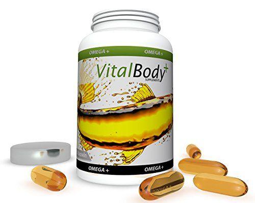 VitalBody+ OMEGA+ - Omega 3 Fetts�uren Fisch�l - hochdosiert EPA & DHA (60 Kapseln) - Made in Germany!