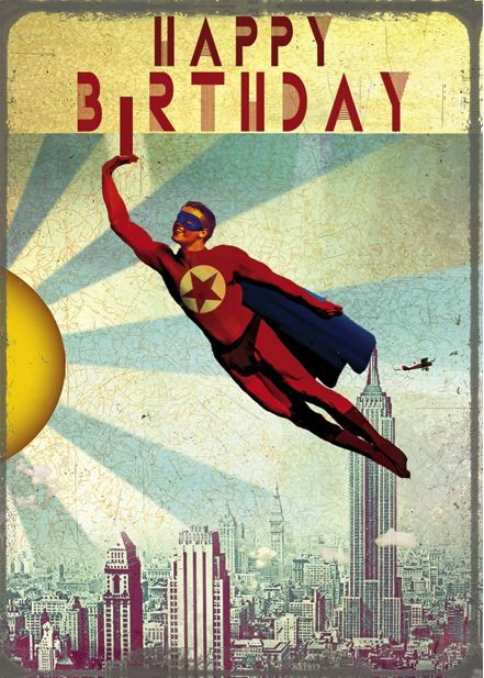 retro birthday card - Google zoeken