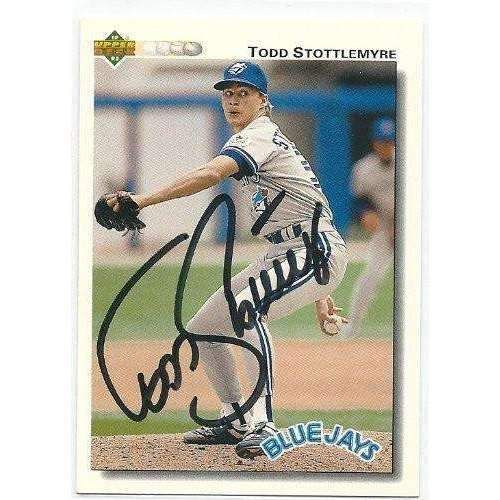 1991, Todd Stottlemyre, Toronto Blue Jays, Signed, Autographed, Upper Deck Baseball Card, Card # 371, a COA Will Be Included