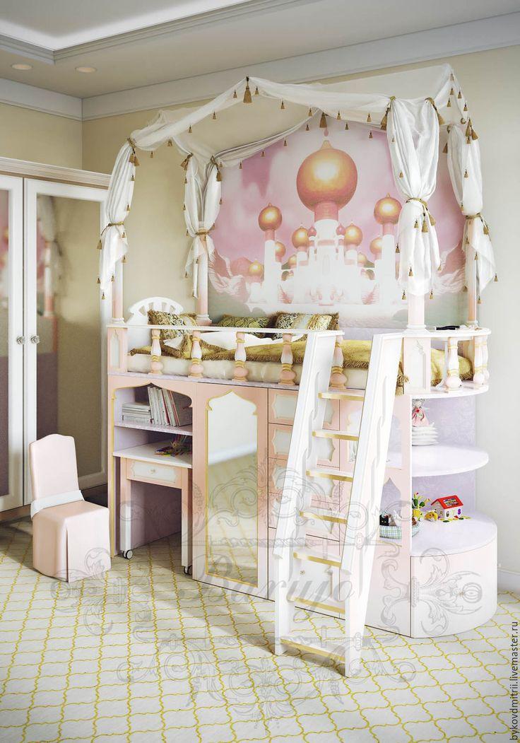 """Купить Детская кровать """"Восточная принцесса"""" - кровать для девочки, детская кровать, мебель в детскую"""