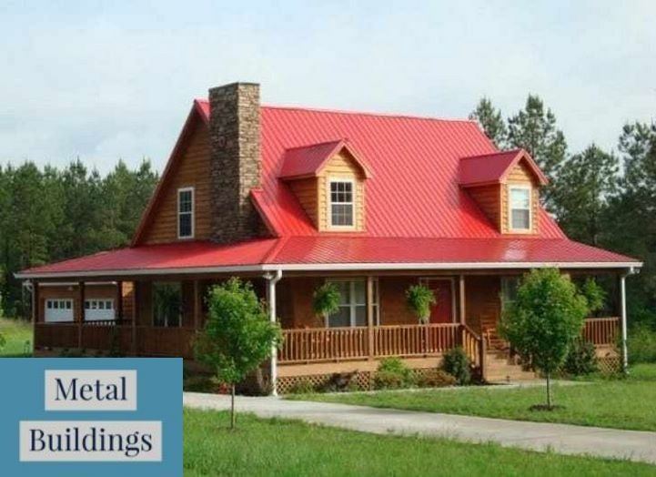 Great Prices On Metal Buildings Nc Custom Garages And Metal Buildings Contemporary Cabin Style Homes Metal Building Homes House Roof