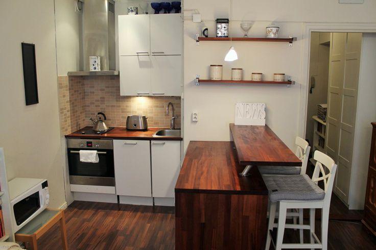 Hyvä keittiö, jääkaappi ja pakastinkaappi integroitu  Pienet tilat  Pinteres