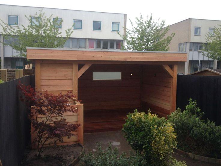 Veranda in bestaande tuin
