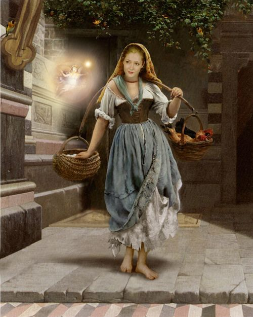 Poor Ciderella byHoward David Johnson (born 2 September 1954) is an American photorealist Illustrator and painter most noted for historical, religious and mythological art.