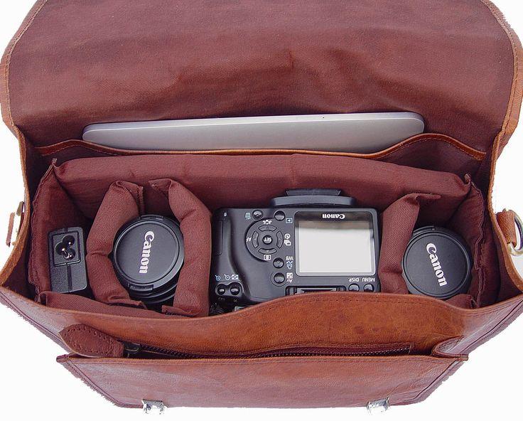 Leather Camera Bag / Satchel / Messenger Bag - Two in One - Vintage Retro Look. $119.00, via Etsy.