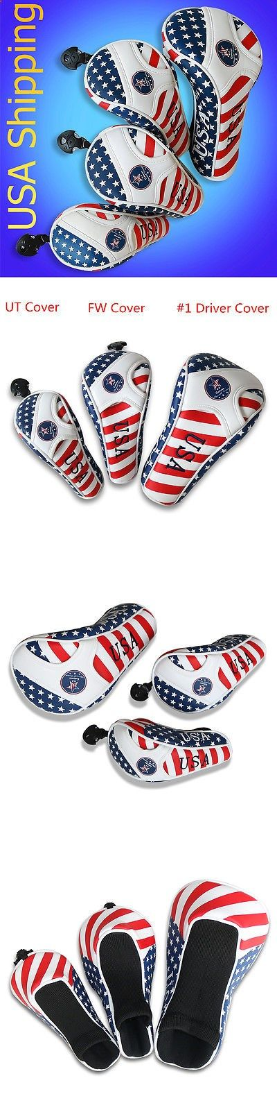 Club Head Covers 18930: Golf Driver Headcover Hybrid Head Cover Usa Flag For Taylormde Adams Callaway BUY IT NOW ONLY: $90.82