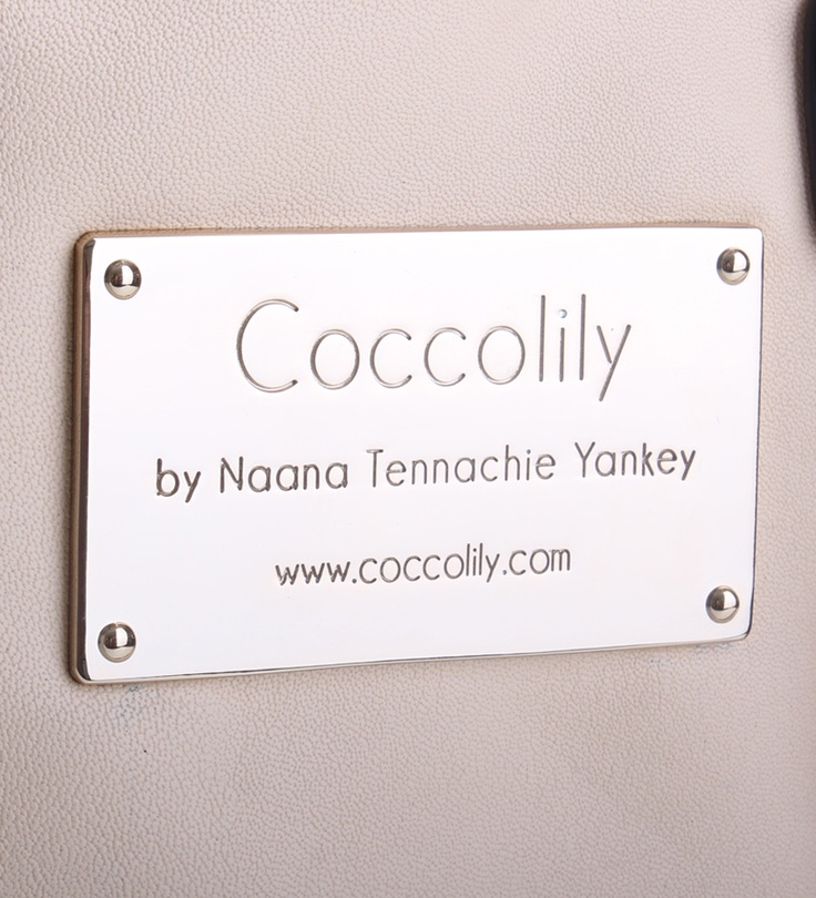 Coccolily Josephine Bag, Metal plate for Coccolily bags.