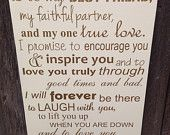First Anniversary Gift for Him Wedding Vows Sign 1st Anniversary Gift with Date Personalized First Anniversary Gift for Her