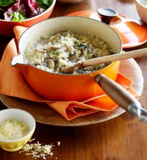 Porcini risotto: It's time to stir things up a bit! This creamy classic with a double dose of mushrooms is just the ticket for Saturday evenings in.