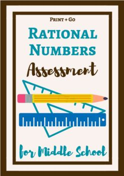"Print + Go with this quick + easy assessment on Rational Numbers. This can be used in the format of ""Scoot"" or let students freely work through each question. This 16-question assessment is color-coded to the CCSS! Review the following concepts: * Addition + Subtraction of Integers and Rational numbers * Multiplication + Division of Integers and Rational Numbers * Applying operations with Rational Numbers to Expressions and Equations"