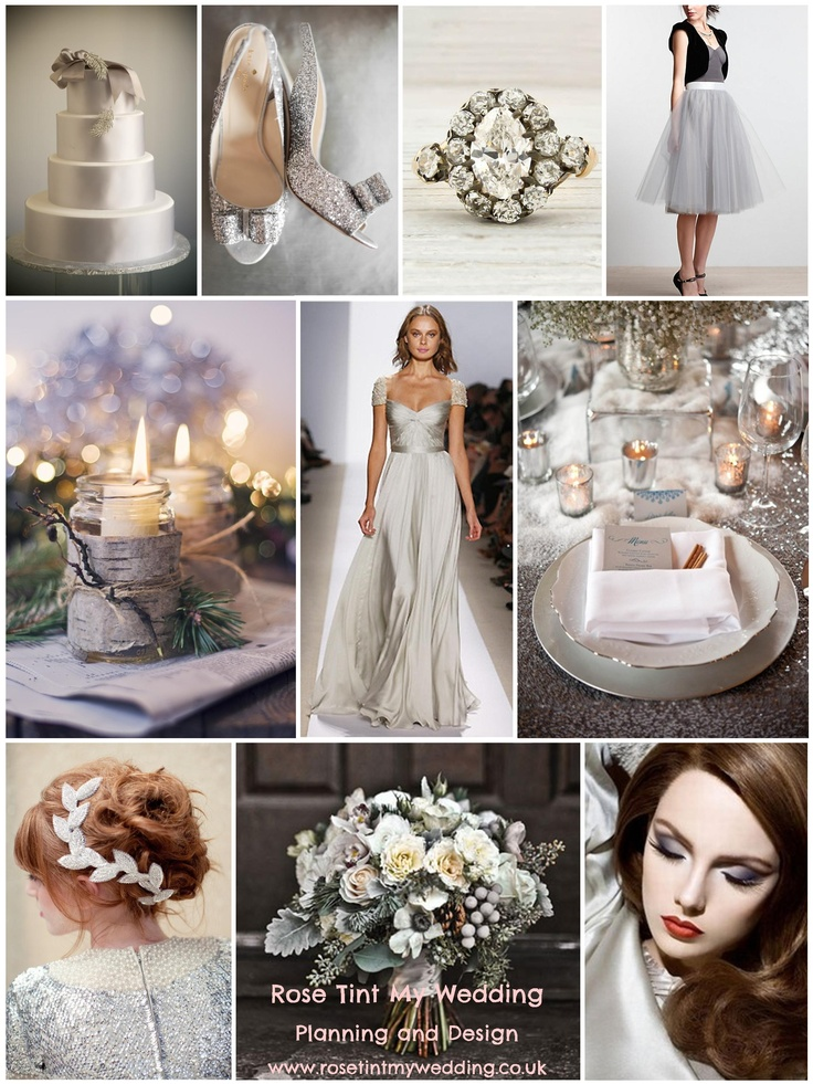 Silver and grey winter wedding inspiration. Need help with any aspects of wedding planning or styling? visit www.rosetintmywedding.co.uk