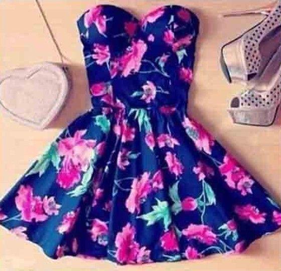 bunt Blumen Bandeau reizvolles dünnes Kleid