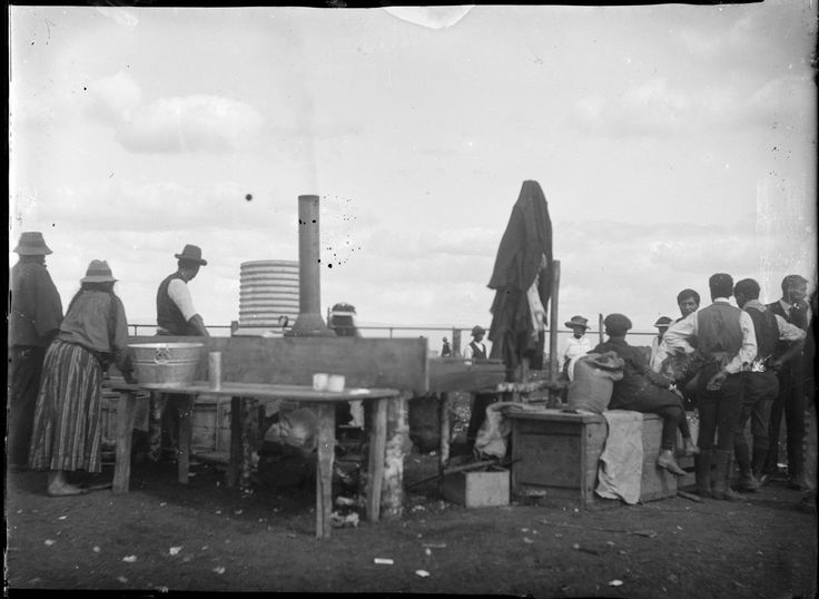 Showing an area at Kaikohe set aside for cooking potatoes.1911
