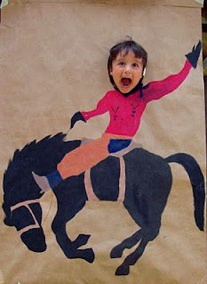 So adorable for cowboy party - Mike could easily paint something like this!