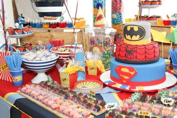 Ideias para uma Festa dos Super-Heróis! Ideas for a Super Heroes Party!
