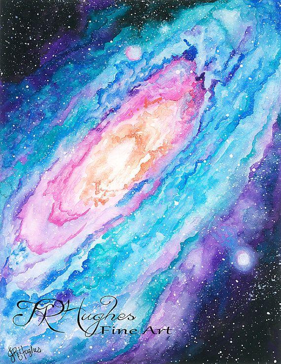 Best 25 watercolor galaxy ideas on pinterest galaxy for Space art tutorial