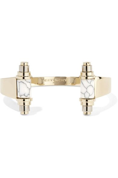 Givenchy - Gold And Palladium-plated Obsidian Cuff - M