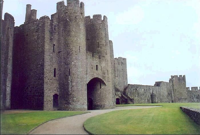 Pembroke Castle, southwest Wales. Built in 1093.