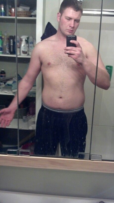 "Before Picture- Starting Jake Cutler ""living large"" 8 week program Monday. Be back in 8 weeks. :)"