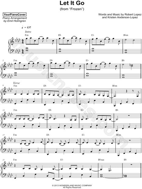 11 Best Let It Go Images On Pinterest Piano Pianos And Sheet Music