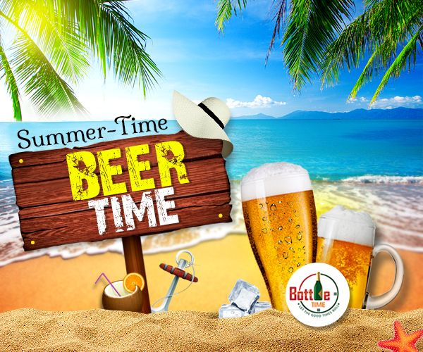 Chill Your Summer with Chilled #Beer! Get it @☎️- 403-918-3030    www.bottletime.ca