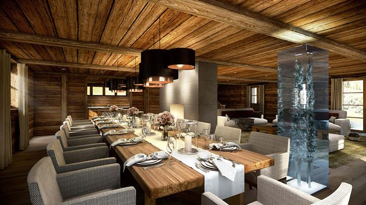 Spacious and Luxury Dining Area Tyrol Chalet Ulmann