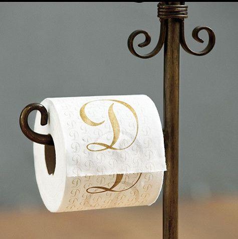 Monogrammed Bathroom Tissue - traditional - toilet accessories - - by Ballard Designs