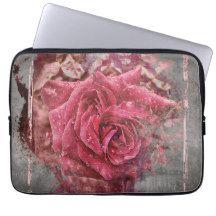 """Pink Rose 13"""" Laptop Sleeve $27.95"""