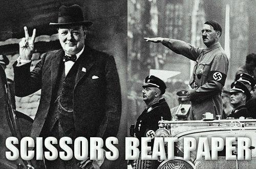 Haha!!History, Rocks Paper Scissors, Peace, Funny, Beats Paper, Humor, Winston Churchill, Scissors Beats, True Stories