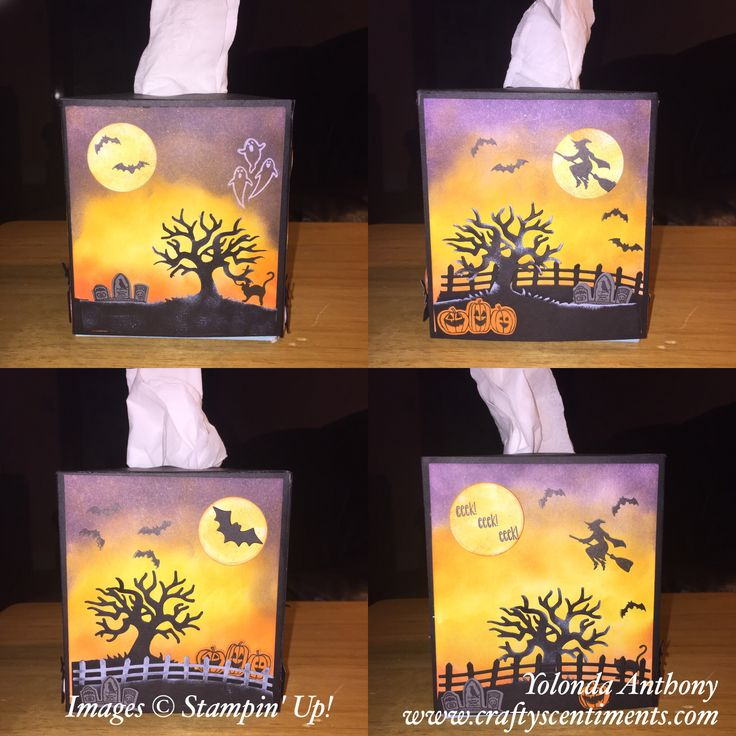 Stampin' Up! Spooky Fun Tissue Box Cover