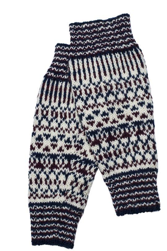 Flerfärgstickade benvärmare Novita 7 Bröder | Novita knits