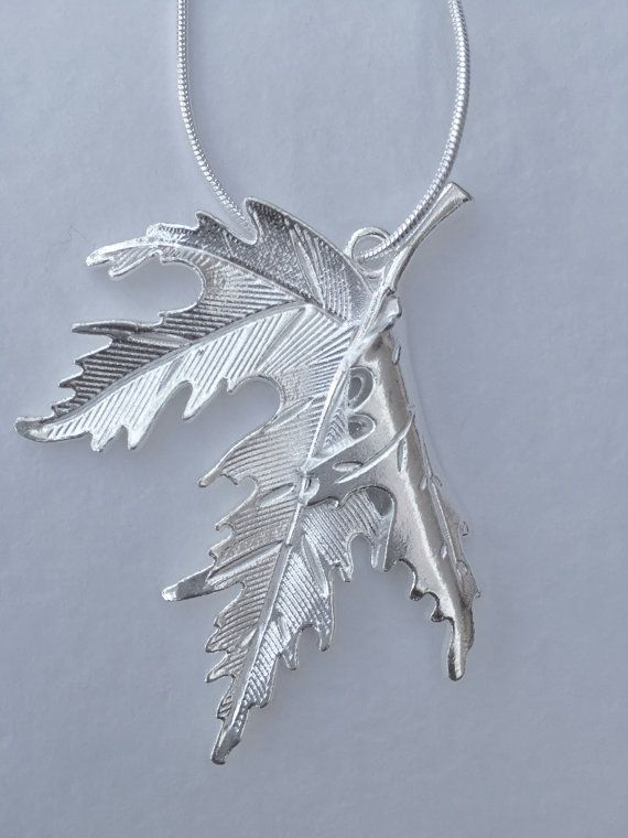 This necklace features a maple leaf pendant, made of zinc alloy, on a silver plated snake chain with a lobster clasp.  The leaf pendant measures 48mm x 55mm. The chain is just 1mm thick and available in different lengths, please select from the drop down menu.  The necklace will be wrapped securely in bubble wrap, before being gift wrapped in tissue paper and presented in a black velvet bag.  All items are posted Royal Mail first class, tracked and signed. The tracking number will be…