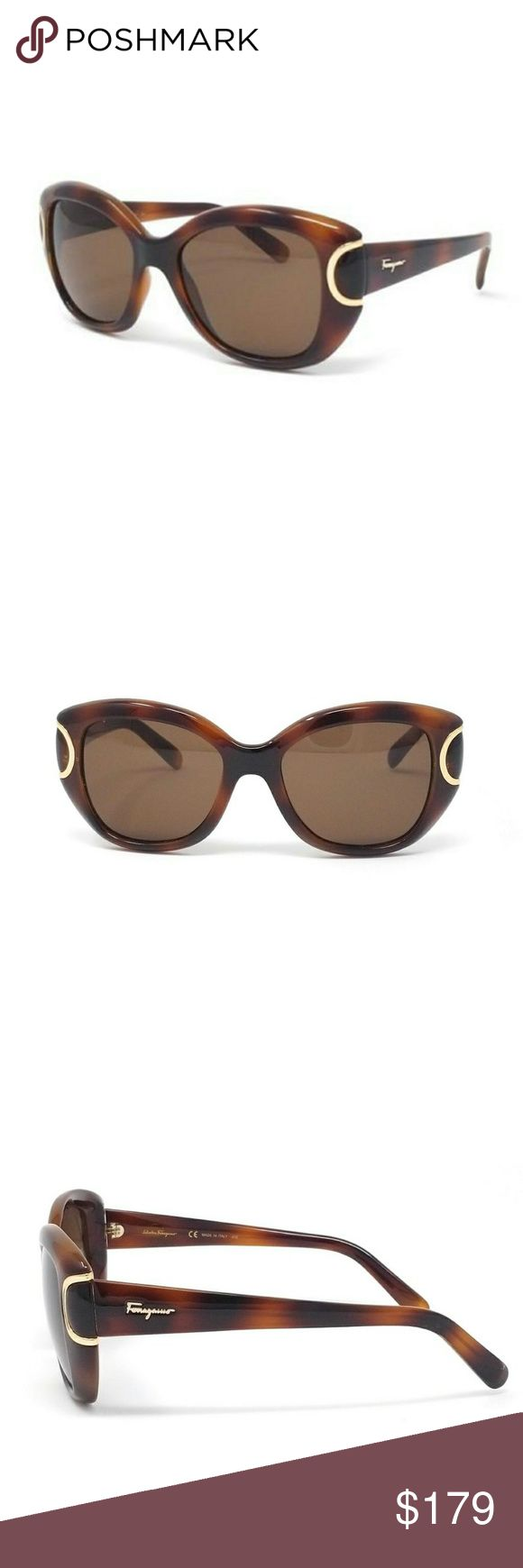 Salvatore Ferragamo Havana Brown sunglasses New Authentic Salvatore Ferragamo sunglasses. Frames are Havana Brown  with Brown Lenses. The glasses are beautiful and compliments any outfit. Comes in original package.New Authentic Salvatore Ferragamo sunglasses. Frames are red with gold. Lenses are Brown gradient. The glasses are beautiful and compliments any outfit. Comes in original package. Salvatore Ferragamo Accessories Glasses