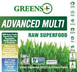 Greens + Advanced Multi Raw Superfood – 9.4 oz – NEW Formula