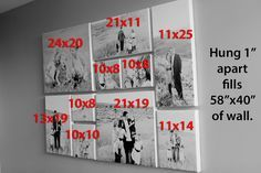 canvas wall collage measurements and arrangements                              …