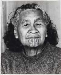 O.033733 Rangi Ruri. From the series: The Moko Suite