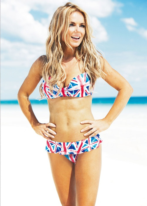 #Bikini Awards: Geri Halliwell models her new Union Jack collection for Next in February