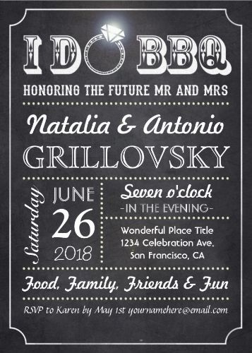 33 best I DO BBQ Invitations images on Pinterest Barbecue - chalk board invitation template