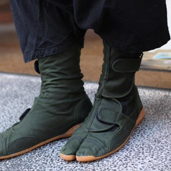 SOU • SOU US Online Store » Tabi Short Boots Khaki Green