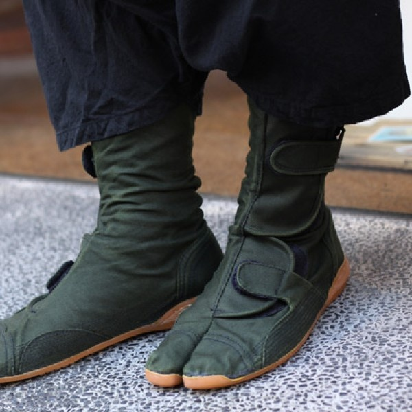 SOU SOU US Online Store Tabi Short Boots Khaki Green Shoes OMG Shoes Shoes Tabi