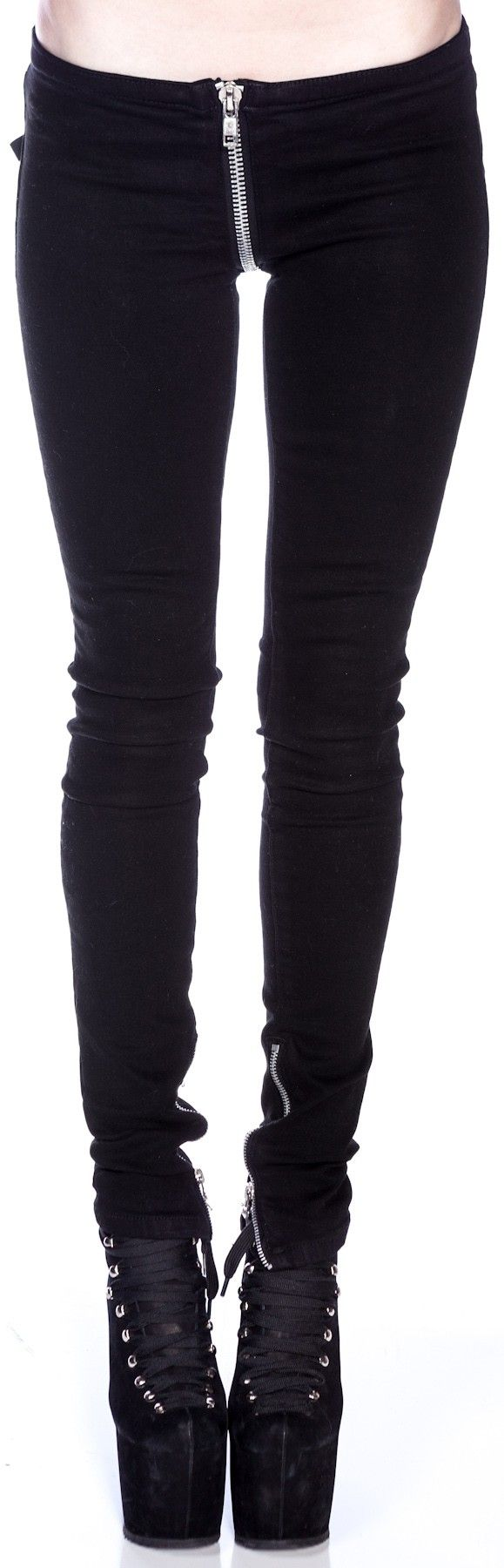 Kill City Tweek-Crack Attack Super Low Rise Stretch Twill Pants | Dolls Kill